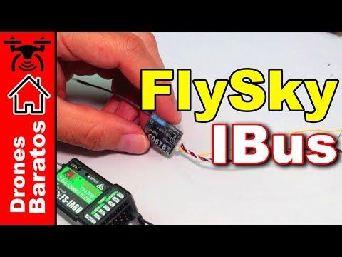 Como enlazar la emisora FlySky con IBus Flysky FS-A8S y Flysky FS-iA6B