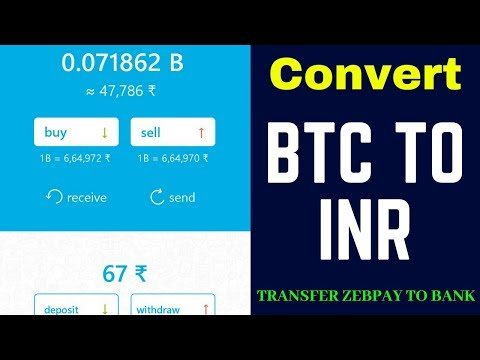 How To Transfer Money From Zebpay To Bank Account, Convert  BTC Intro INR