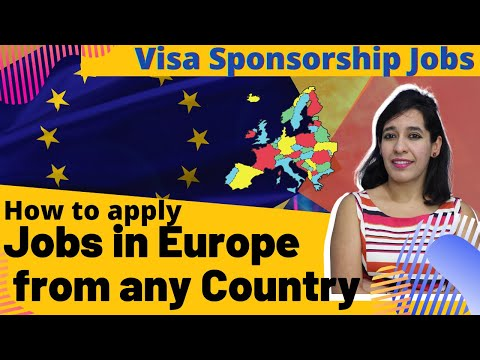 How to apply jobs in Europe from any country |How to find Visa Sponsorship jobs | LinkedIn visa jobs
