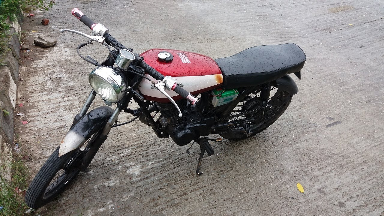Custom-Modified Honda 100cc Motorcycle In Bangladesh