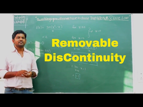 Continuity - Removable Discontinuity- Lecture 2.2