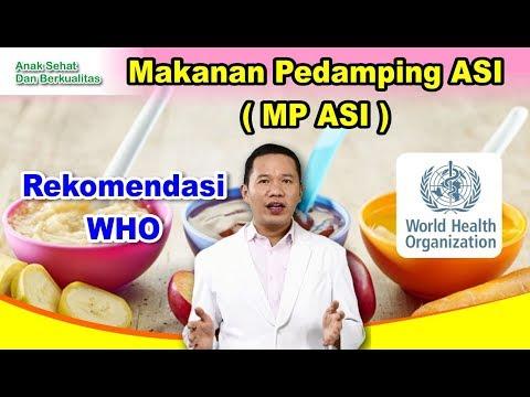 Makanan Pendamping ASI (MP ASI) Rekomendasi WHO