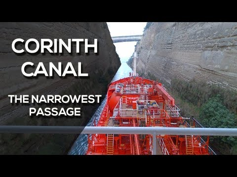 Corinth Canal - The Narrowest Vessel Passage Ever?