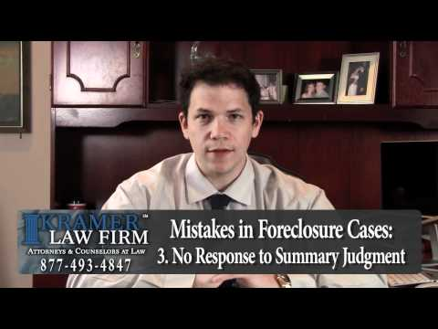 Orlando Foreclosure Lawyer explains Top 3 Mistakes Made in Foreclosure Cases