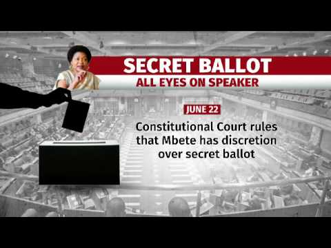 Mbete to announce decision on secret ballot