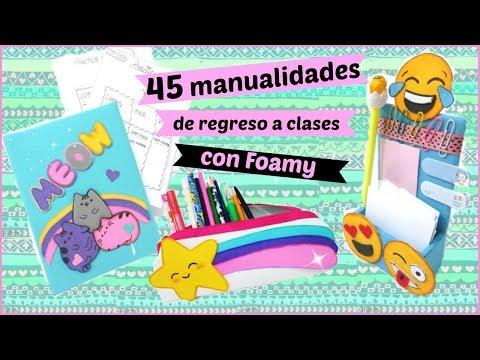 45-manualidades-para-el-regreso-a-clases-con-foamy-/goma-eva-/diy