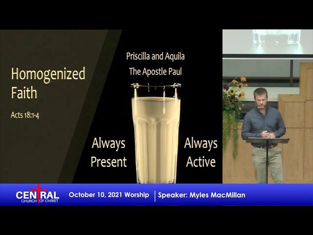 October 10, 2021 - Homogenized Faith