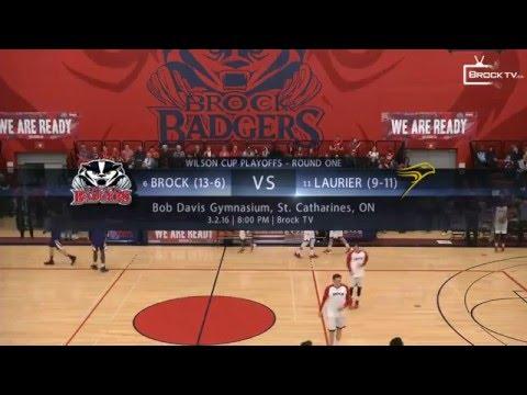 Brock Badgers vs Laurier Golden Hawks: Wilson Cup Playoffs Round 1