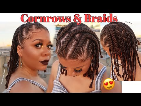cornrows-&-braids-protective-style-no-added-hair-|-natural-hair-styles
