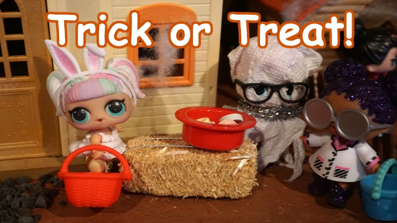 Lol Surprise Dolls Halloween Trick Or Treating Youtube