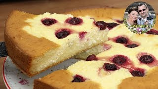 Творожный пирог с вишней. Королевская ватрушка. Вкусно, оторваться невозможно