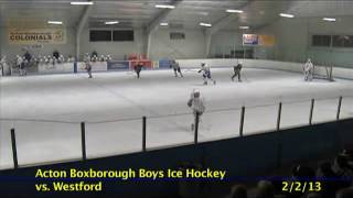 Acton Boxborough Varsity Boys Hockey vs Westford 2/2/13