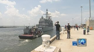 Lauren Compton reports on USS Leyte Gulf deployment
