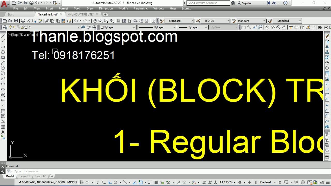 VIDEO HƯỚNG DẪN TẠO BLOCK THUỘC TÍNH –  ATTRIBUTE BLOCK