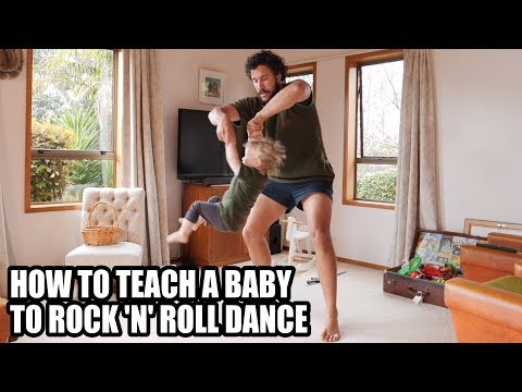 HOW TO TEACH A BABY TO ROCK 'N' ROLL DANCE