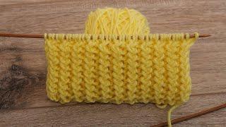 НОВИНКА! 🤗 Двухсторонний узор спицами для шарфика 👌🏻 Double-sided knitting pattern for scarf