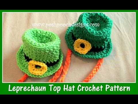 Leprechaun Top Hat Crochet Pattern Youtube