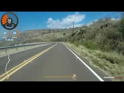3 18 2015 Solo Ride, Kauai - Waimea Canyon Drive Descent