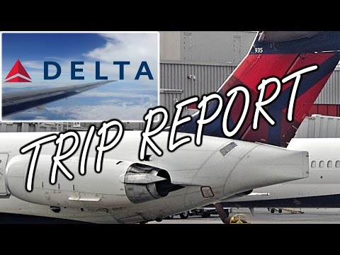 Delta Air Lines MD-80 / MD-88 Economy Trip Report / Flight Review with Engine View [MEM to ATL]