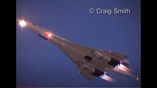 Concorde Twilight Takeoff (with visible afterburners)