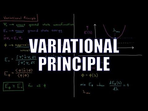 Quantum Chemistry 8.1 - Variational Principle