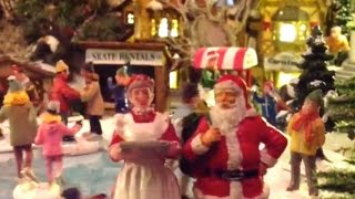 Alternative Model Christmas Village Video With Rude Santa Claus, Singing The Christmas Duel