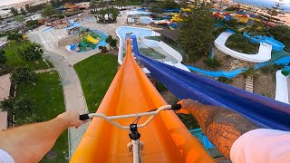 FULL SPEED BMX IN A WATERPARK!