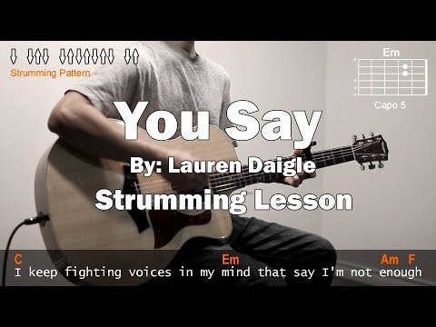 Lauren Daigle - You Say Cover With Guitar Chords Lesson (Strumming)