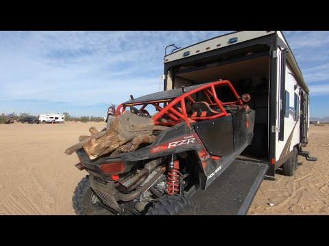 Loading Up My RZR Turbo Into My 24' Toy Hauler Glamis