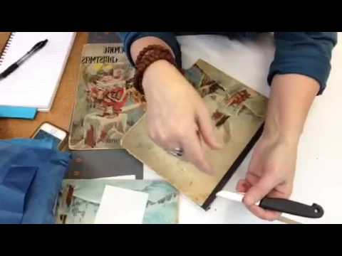 Facebook Live. Restoring an old children's book. Save Your Books