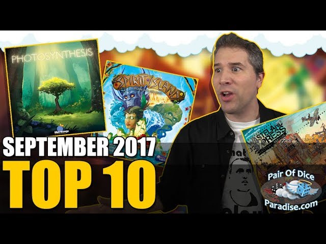 Top 10 most popular board games: September 2017