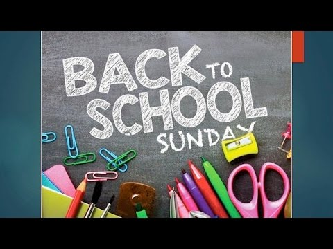 08/07/16 Sermon: Back to School Sunday -