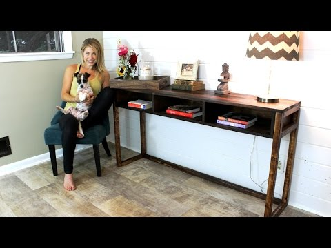 The 30 Console Table Easy Diy Project Youtube