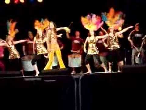 Eletricat Dance Group with Rythm Wave Band at Glastonbury 2007