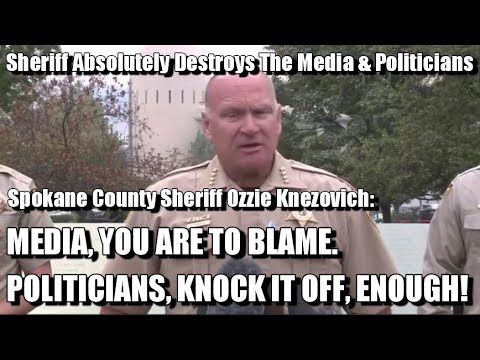 Greatest Press Conference Of All Time: Sheriff Has Had Enough Of The Media & Politicians