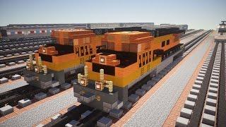 Minecraft BNSF GE Evolution Diesel Locomotive Train Tutorial