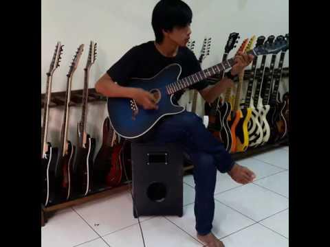 check sound gitar akustik Gillmore GA-04 Blue Darker