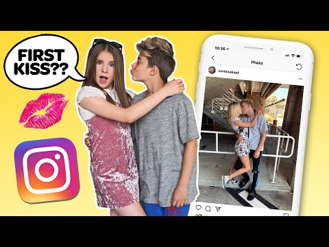 Recreating Famous INSTAGRAM COUPLES Photos CHALLENGE **FIRST KISS** 💋💕| Piper Rockelle