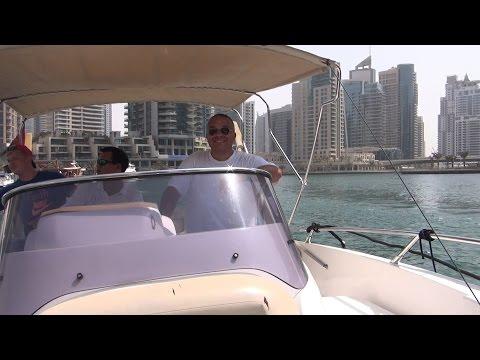 Dubai Marina yacht cruise - rent a boat - Dubai VLOG 18 KONIEC