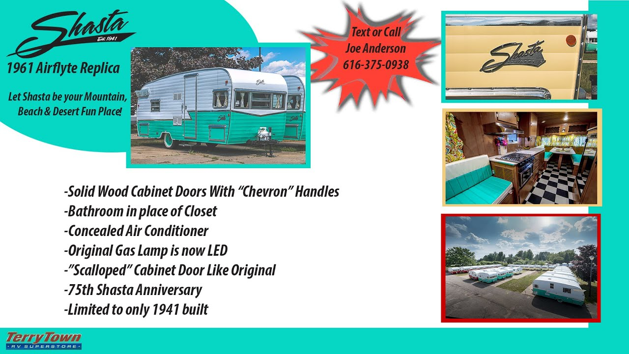 2015 1961 Shasta AirFlyte Replica/Reproduction RV video tour by TerryTown  RV Superstore