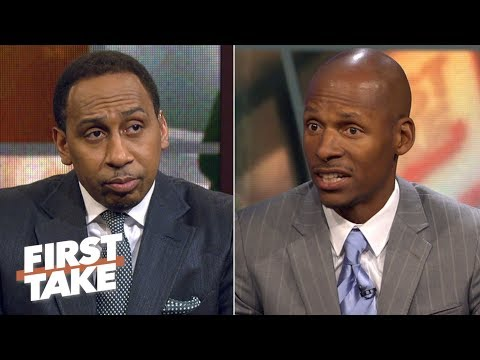 Stephen A. asks Ray Allen about relationship with Rajon Rondo and former Celtics | First Take | ESPN