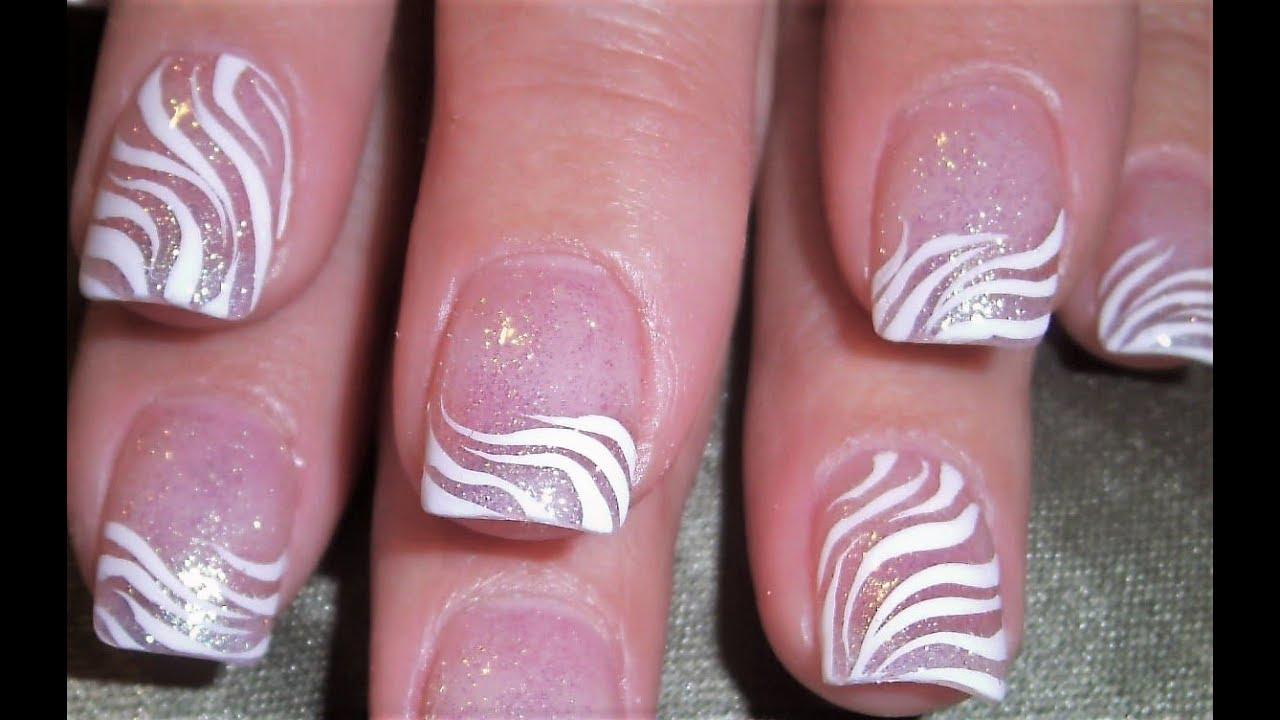 Diy White Zebra Print Nail Art Design Simply Elegant Nails
