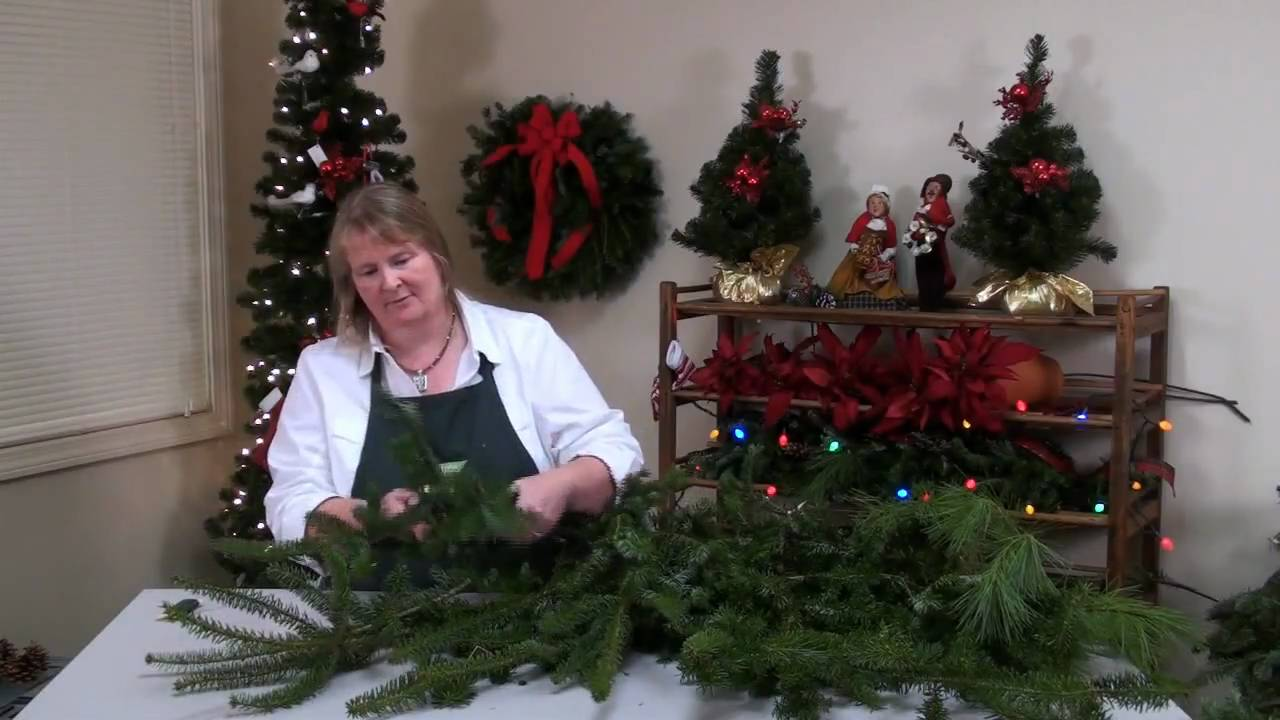 diy holiday door swags youtube - Christmas Swag Decorations
