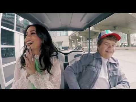 Gaten Matarazzo drives Vanessa Hudgens to WE Day - WE Day Shuttle