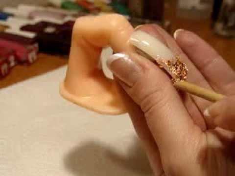 Рисунки на ногтях фото:Эмаль на золоте - дизайн ногтей