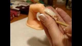 Nail art, рисунок на ногтях, золото поталием.золотой френч.