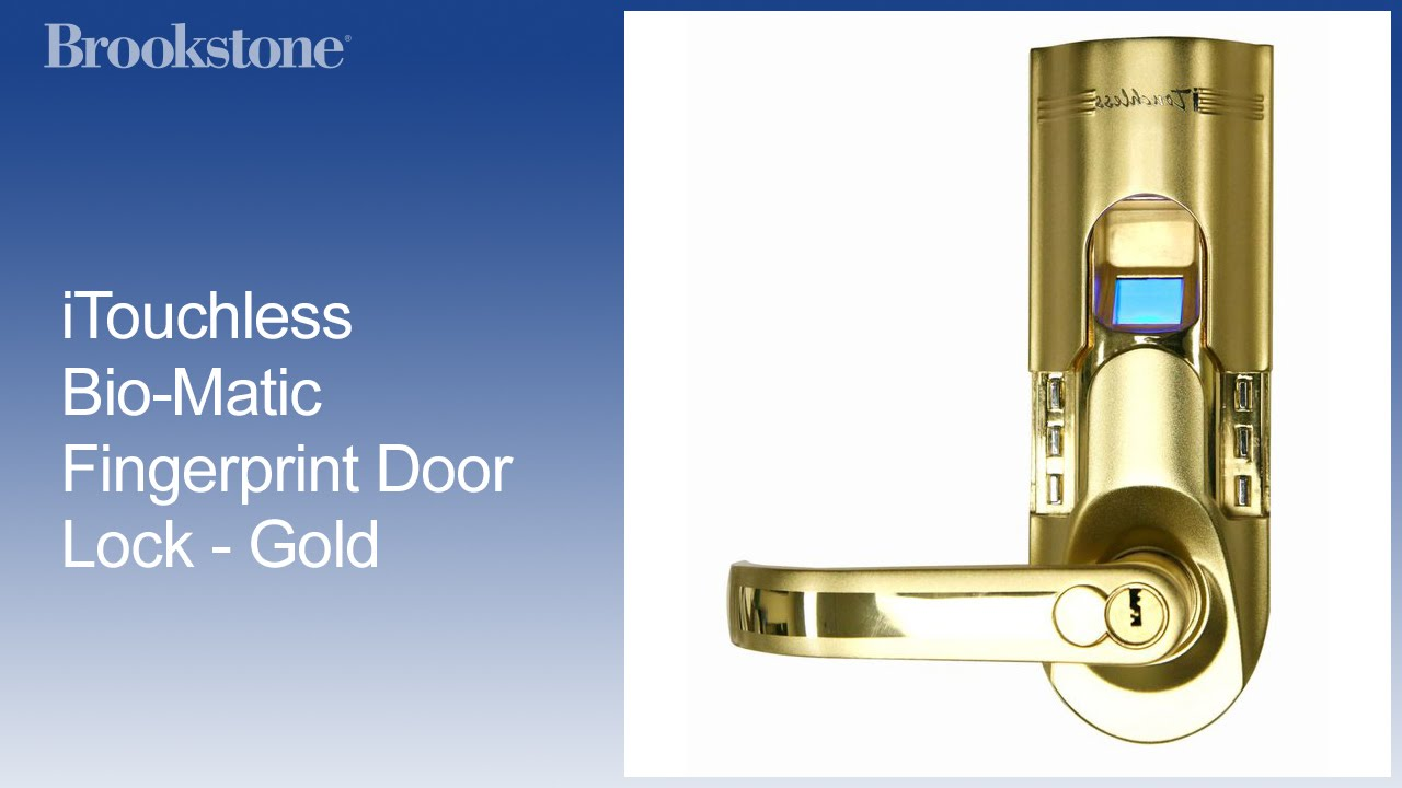 Gentil ITouchless Bio Matic Fingerprint Door Lock   Gold