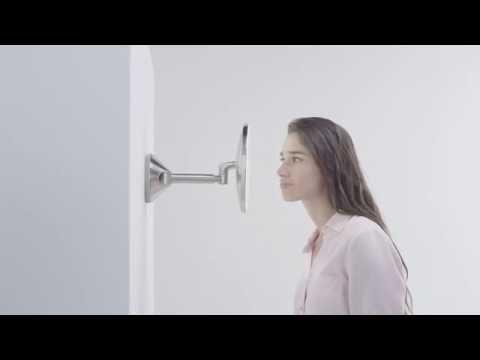 simplehuman wall mounted sensor mirror: lighted makeup & vanity mirror