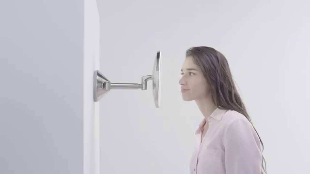 simplehuman wall mounted sensor mirror lighted makeup