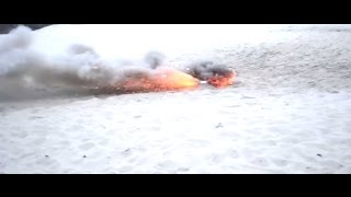 Тест цветных дымовух и калийной дымовушки + взрывы
